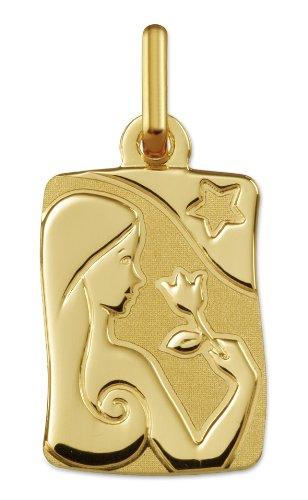 www.diamants-perles.com - Médaille Zodiaque - Or jaune 750/1000 - VIERGE