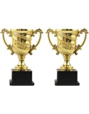 DOITOOL 3pcs Gold Award Trophy Cup Kids Plastic Trophies for Party Favors Props Rewards Winning Prizes Competitions 14cm