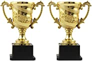 DOITOOL 3pcs Gold Award Trophy Cup Kids Plastic Trophies for Party Favors Props Rewards Winning Prizes Competi