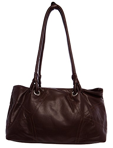 Large Simple Stitched Hobo Shoulder Handbag by Handbags For All by Handbags For All