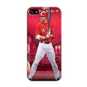 LarryToliver Change New Stay Strong Customizable Quote Baseball Cincinnati Reds Case Hard Cover For iphone 5/5s