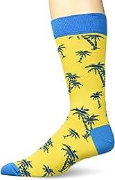 Best Shopping Men Fashion Mercerized Cotton Palm Tree Printed Sock