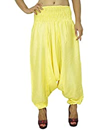 Rayon Elastic Harem Pants Boho Gypsy Trousers Loose Women Pants Beach Pajamas