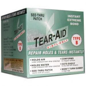 Boxed Type - Tear-AID (Vinyl Type B) 3 in x 5 ft Roll Boxed (4 Rolls)