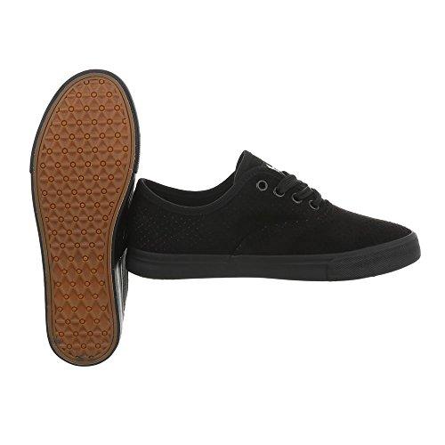 Design Para Bajas 93 Mujer Plano Zapatos G Negro Zapatillas Ital Zapatillas dxa1d