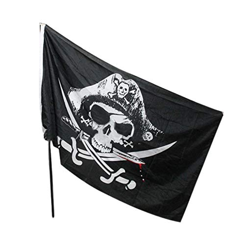 Flags, Banners & Accessories - 2016 90 150cm Hanging Halloween Pirate Flag Fashionhalloween Gifts Big Child Gift - Cotton Birthday Beard Blanket Plate Pack Sticker Sparrow Flags Craft Island -
