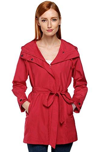 [Fanala Women Raincoat Packable Front Button Rain Coat Hooded Rain Jacket] (Button Front Hooded Coat)