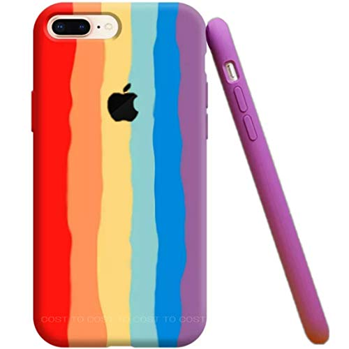 Cost To Cost Back Cover for Apple iphone 7 Plus/ 8 Plus Silicone/Rainbow