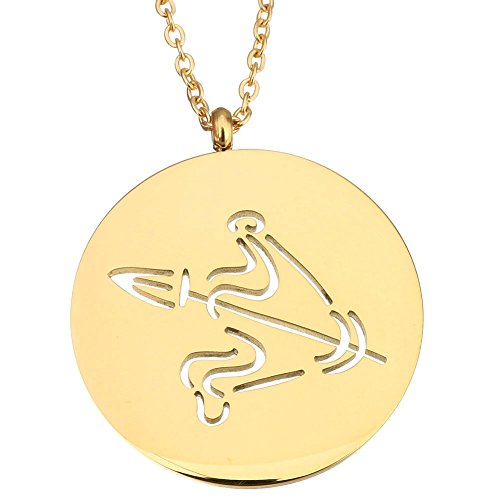 Stainless Gold Leo Zodiac Pendant Necklace - 9