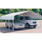 VersaTube Two-Vehicle Steel Shelter - 20ft.L x 30ft.W x 7ft.H, Model# CM230200070S