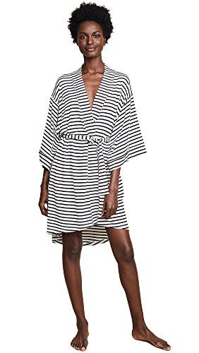 Maison Du Soir Women's Florence Robe, Pearl Stripe, Small