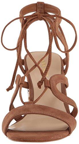 Nine West Women's Bizzy Suede Dress Sandal Dark Natural NncjvS9