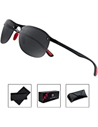 Polarized Sports Sunglasses for Men and Women Ultra Light...