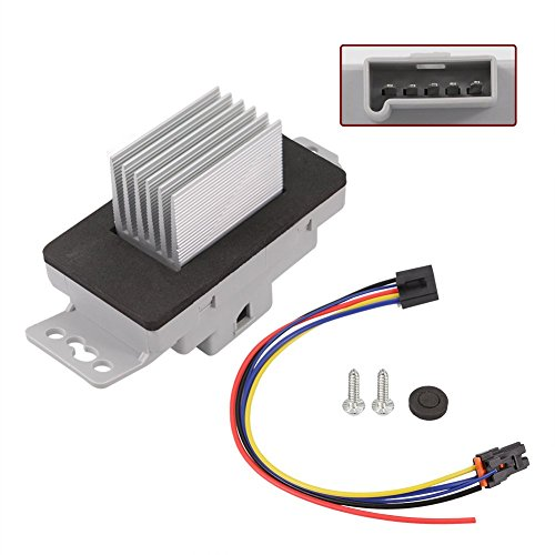 HVAC Blower Motor Resistor Kit With Plug Harness For 15850268 Chevrolet Chevy Monte Carlo 04-07 Impala 04-13 Buick Allure Lacrosse 05-09 Pontiac Grand Prix 04-08 By (Blower Motor Resistor Grand Prix)