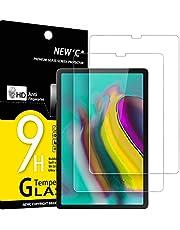 NEW'C 2 pack, Skärmskydd Med Samsung Galaxy Tab S6 / S5e 10.5 2019 (SM-T720/T725/T860/T865) – Härdat Glas HD klar 9H hårdhet bubbelfritt