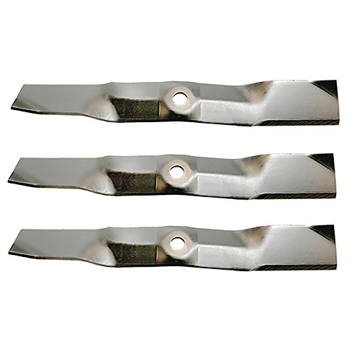 (3) M145476 Replacement Mower Blade for John Deere LX255 LX266 LX277 LX280 LX288