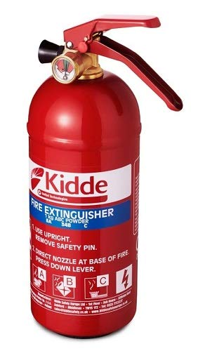 Kidde Ks1kg Multi Purpose Fire Extinguisher Red 1 Kg 285 X 95 X