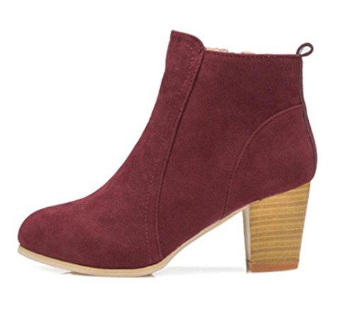 KUKI autumn women boots side zipper women boots Martin boots flat casual boots cheap women boots , US6.5-7 / EU37 / UK4.5-5 / CN37