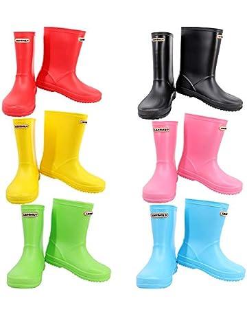 224c2aa610 Leopard Boys Girls Non-Slip Waterproof Kids Wellies Wellington Boots Unisex  Children Motorbike Rain Boots