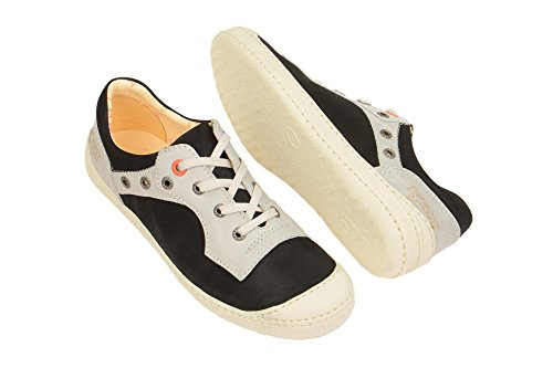 Chaussures Noir classique 004 18243 et femme coupe Black offwhite Eject à lacets PaIwzz