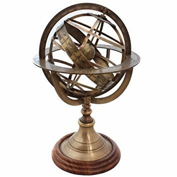 Marine Nauticals Brass Engraved Brass Tabletop Armillary Nautical Sphere Globe fathers day gift item ()