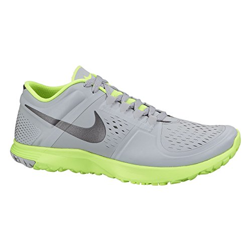 NIKE Men's FS Lite Trainer Wolf Grey/Mtlc Dark Grey/Volt Training Shoe 9 Men US