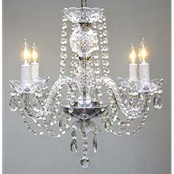New authentic all crystal chandelier chandeliers h17 x w17 new authentic all crystal chandelier chandeliers h17 x aloadofball Images