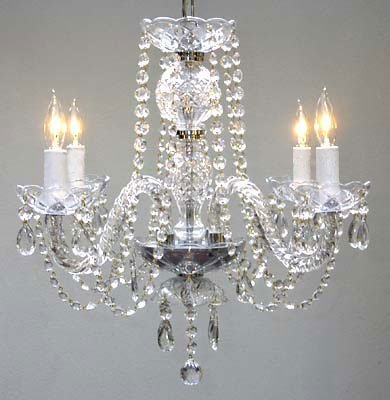 New! Authentic All Crystal Chandelier Chandeliers H17″ x W17″
