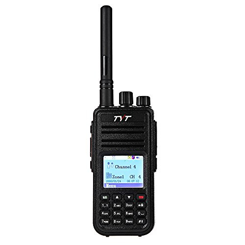 GBTIGER TYT MD - 380 DMR Portable Walkie Talkie, Digital Radio UHF 400 - 480MHz, Up to 1000 Channels with Colorful LCD Display Programming Cable and 2 Antenna by TYT
