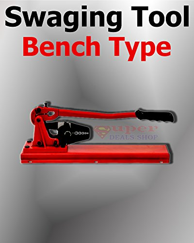 Bench Type Swaging Tool (1/16'', 3/32'', 1/8'', 5/32'', 3/16'') Hand Crimper Swager Wire Rope Crimping Tool for Copper and Aluminum Sleeves Fishing Heavy-Duty Choose Size In Listing Super-Deals-Shop by S-D-S Replacement