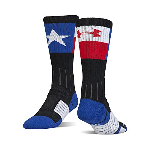 - Under Armour Men's Unrivaled State Pride Crew Socks, 1 Pair, Black/Royal Texas, Large