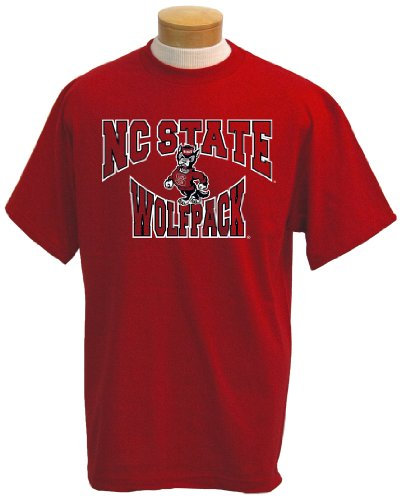 NCAA Men's North Carolina State Wolfpack Colossus Short Sleeved T-Shirt (Red, Small)
