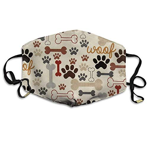 RS-pthrAB!!! Training Dog Bones Paws Reusable Anti Germs Breathable Health Masks Mouth Face Mask