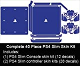 Sony PlayStation 4 Slim Skin (PS4S) - NEW - LEMON YELLOW vinyl decal console mod kit by System Skins