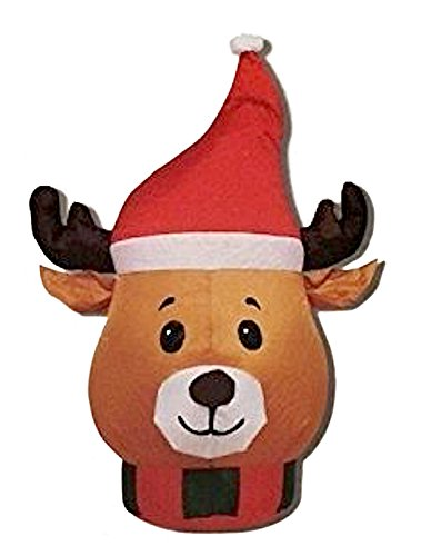 CHRISTMAS DECORATION LAWN YARD GARDEN INFLATABLE HOLIDAY REINDEER 3' (Creepy Homemade Halloween Yard Decorations)