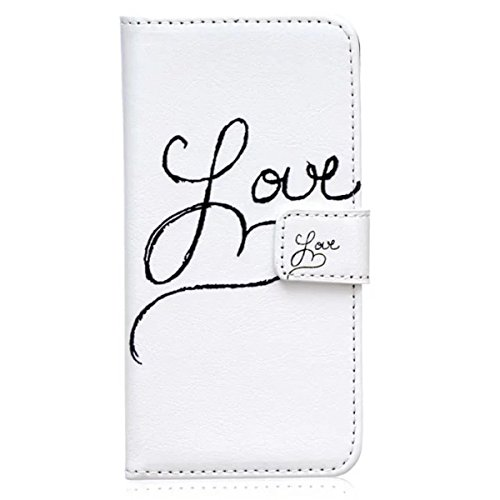iPhone 6S Plus Coque, iPhone 6 Plus Coque, Lifeturt [ Amour ] [Credit Card Slot Series] Housse Etui en cuir Avec Wallet Ultra Slim [Flip Housse étui Wallet Case Cover] pour Apple iPhone 6s Plus / 6 Pl