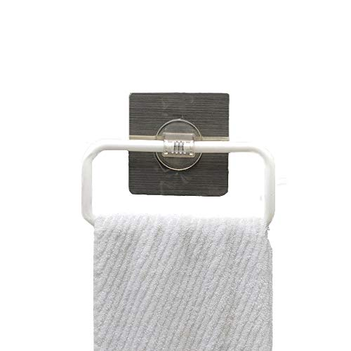 (StoHua Strong Adhesive Towel Ring - Portable Non-Track Sticker Plastic Towel Holder Hanger, Easy to Install and Clean, Any Smooth Surface)