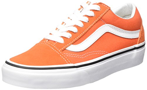 Vans Unisexe Erwachsene Vieille Orange Baskets Skool (flamme / Vrai 2w1 Blanc)