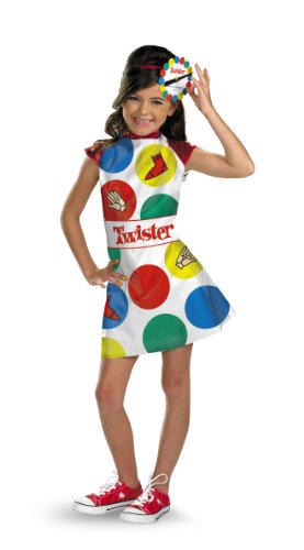 Hasbro Games Twister Girls Costume, 7-8 - Twister Girl Halloween Costume