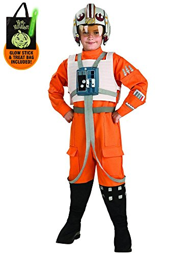 Star Wars X-Wing Fighter Pilot Child Costume Treat Safety Kit