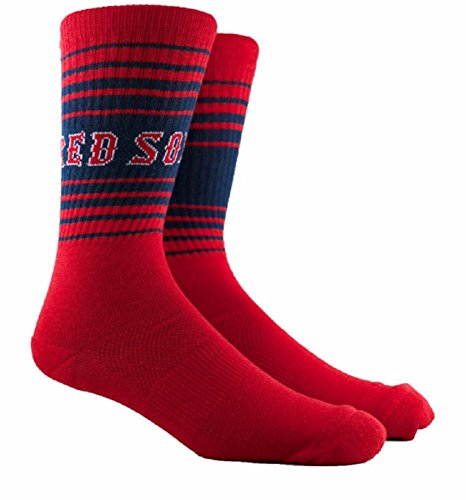 (Red Sox Horizon Crew Socks for men XL(shoe size men 10-14))