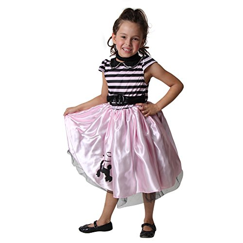 Girls Storybook Wishes Pink Poodle Dress, Size (Poodle Skirt Kids)
