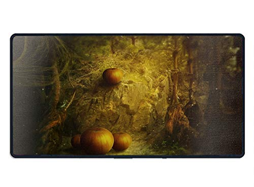 Oversized Mouse Pad,Halloween Pumpkin Printed Mousepad Non Slip Rubber Mouse pad Gaming Mouse -