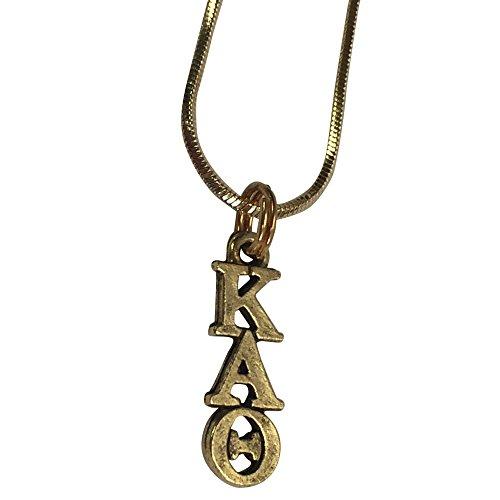 Kappa Alpha Theta Gold Color Sorority Standard Lavalier - California Honolulu Of Shades