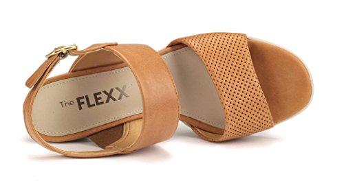 Yu Sandalo N Tacco Me Donna FLEXX Cognac The Fx5Oqw7E