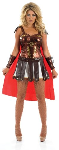 Spartan Costumes Female (Spartan Girl Greek Female Fancy Dress Costume - S (US 6-8))