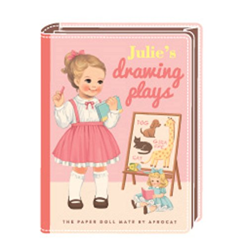 Paper Doll Mate (Korea Afrocat Paper Doll Mate New Book Clutch M Bag Multiple Function Pouch (Julie(Pink)))