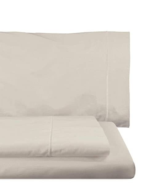 Home Royal - Juego de sábanas compuesto por encimera, 180 x 285 cm, bajera ajustable, 108 x 200 cm, funda para almohada, 45 x 130 cm, color platino