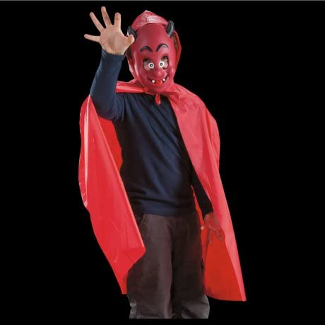 LIBROLANDIA 03003 Set diavolo bimbo (mantello in pvc c/cappuccio e maschera in eva) in busta: Amazon.es: Juguetes y juegos