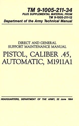 MILITARIA Pistol Cal.45 Auto, M1911A1 Manual (TM 9-1005-211-34), - Pistol M1911a1
